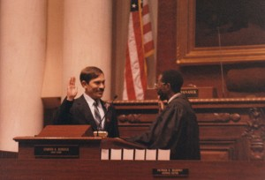 Judge Ed Wilson swearing me in
