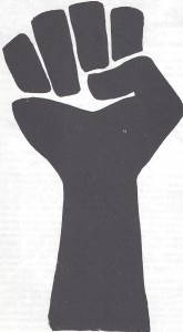 Black power rt side up