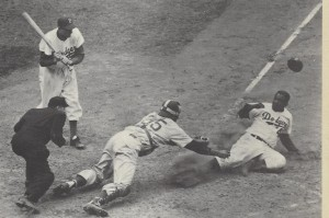 Jackie Robinson steals home in 52